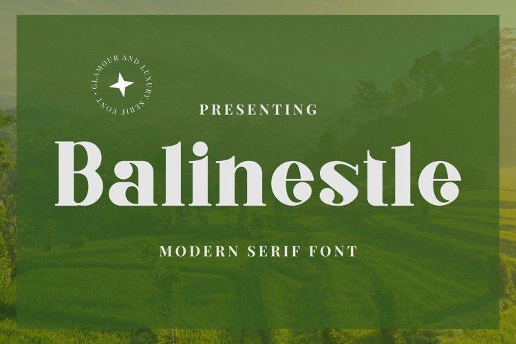 Web Font Balinestle example image 1