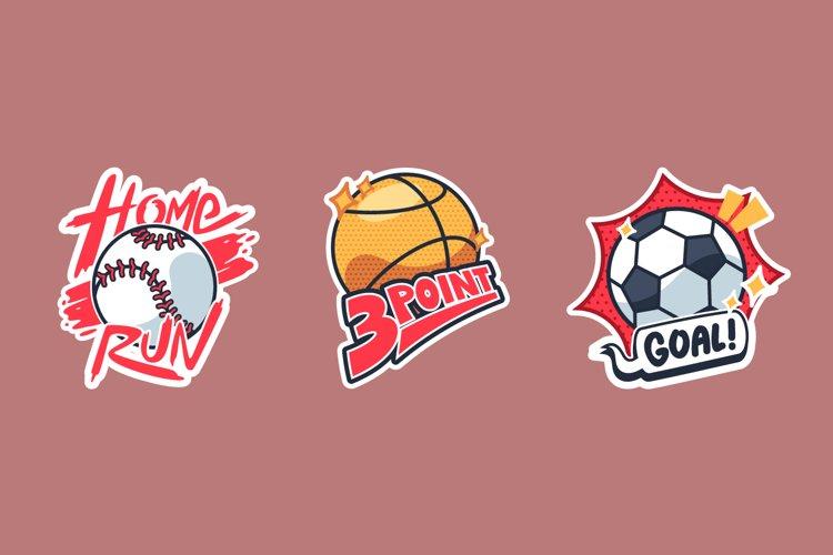 Ball Sticker Illustrations