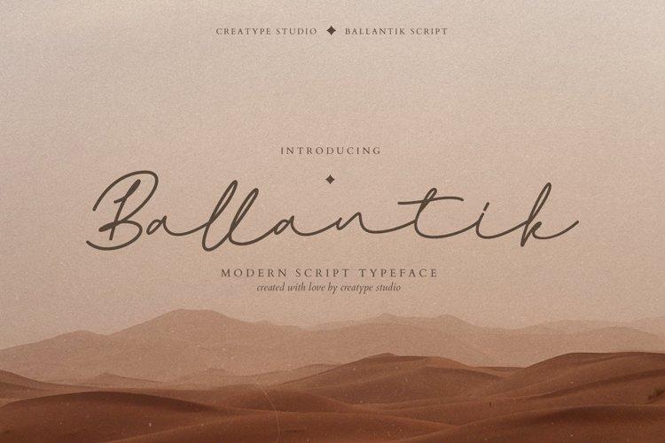 Ballantik Modern Monoline Script example image 1
