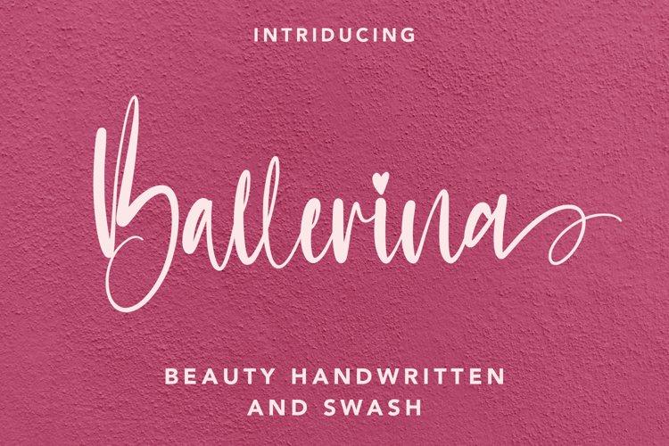 Ballerina - Handwritten Font with Swash example image 1