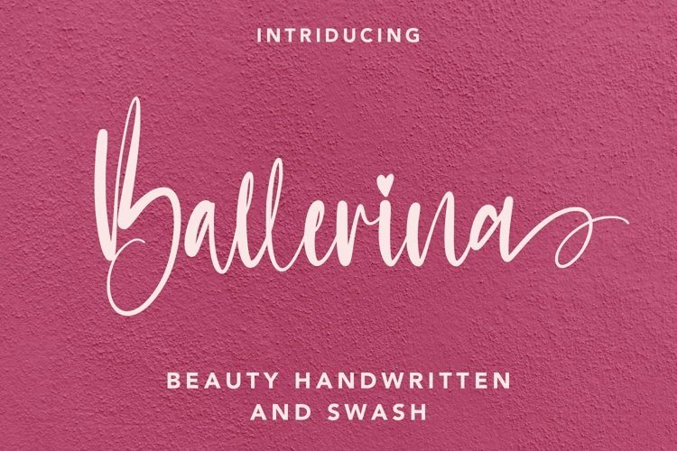 Web Font Ballerina - Handwritten Font with Swash example image 1