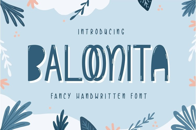 Web Font Baloonita - Fancy Handwritien Font example image 1
