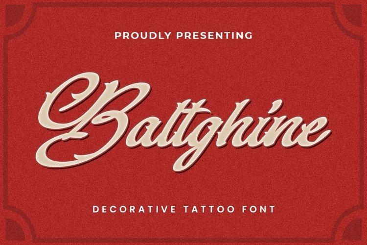 Web Font Baltghine - Tattoo Font example image 1