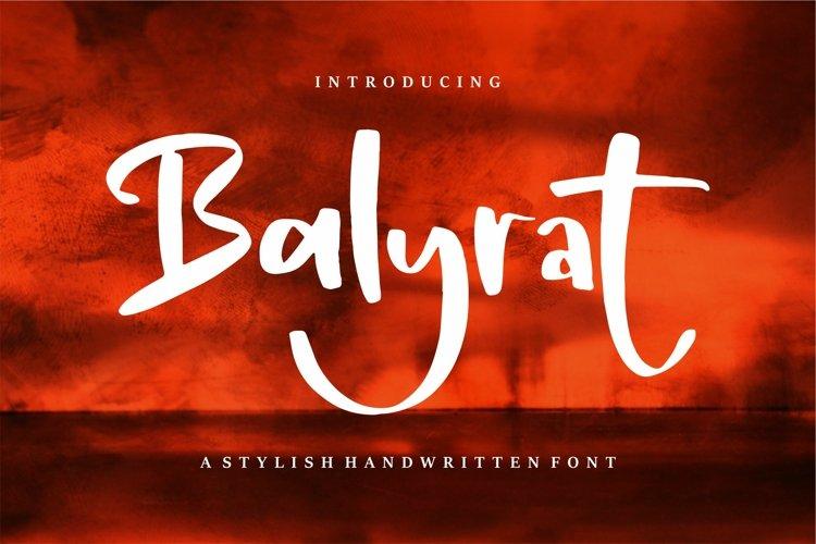 Balyrat - A Stylish Handwritten Font example image 1
