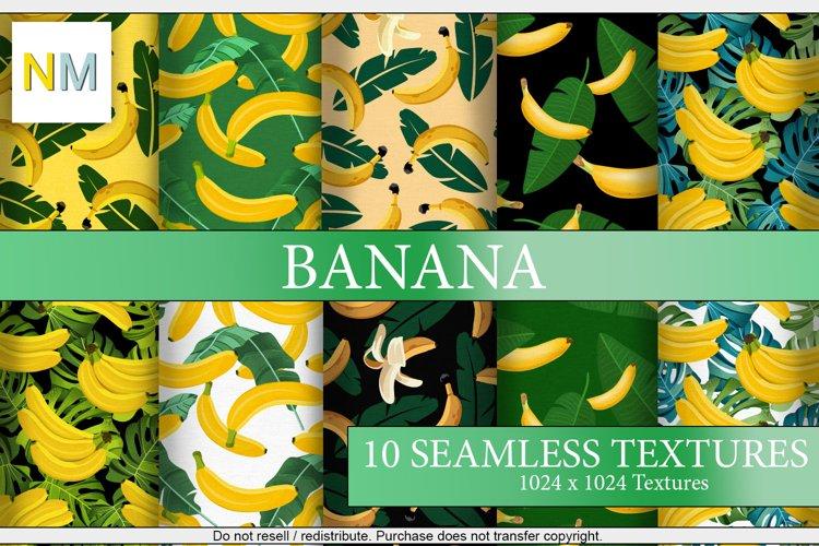 Banana 10 Seamless Fabric Patterns Textures