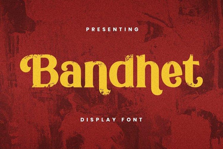 Web Font Bandhet Font example image 1
