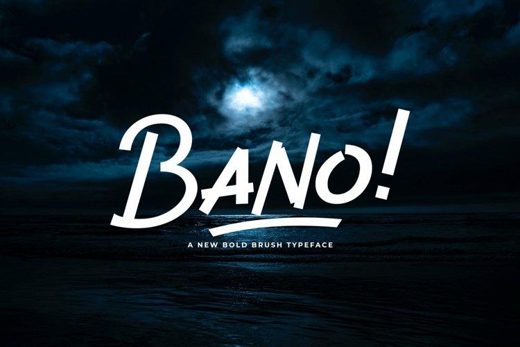 Web Font Bano example image 1