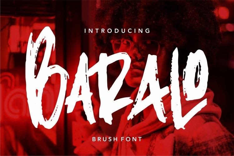 Baralo - Brush Font example image 1