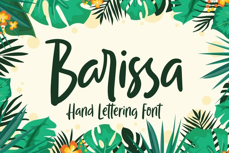 Web Font Barissa - Hand Lettering Font example image 1