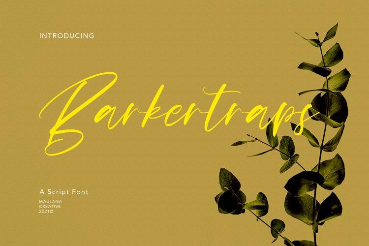 Barkertraps Script Font example image 1