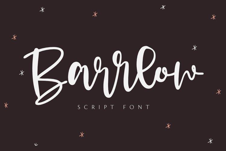 Barrlow - Script Font example image 1