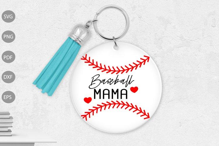 Keychain Baseball Mom SVG design