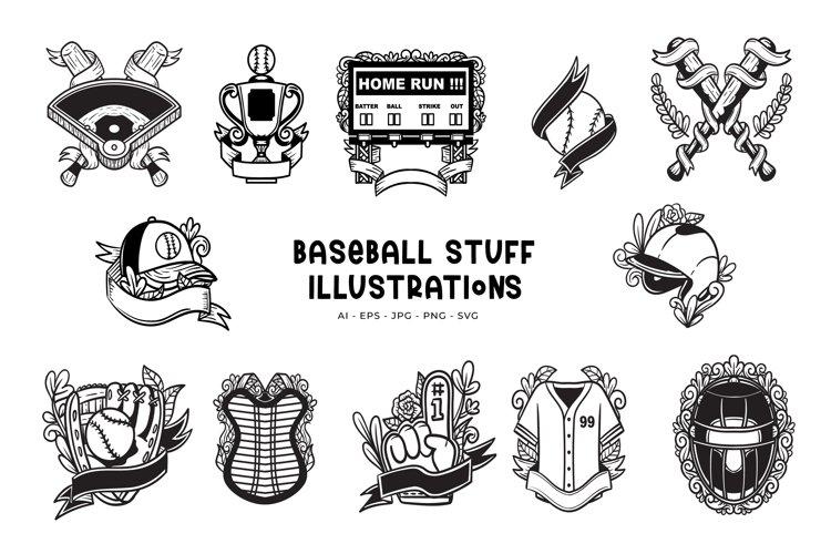 Baseball Stuff Illustrations
