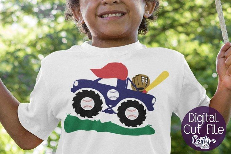 Monster Truck Svg, Baseball Sport Shirt Svg, Kids Truck File