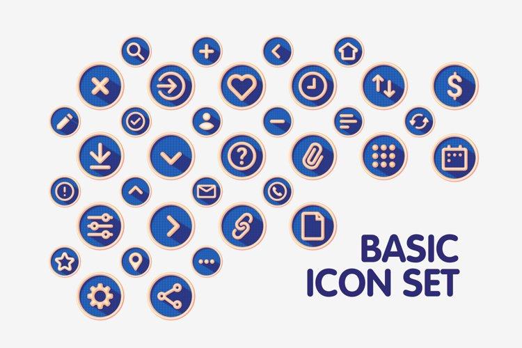 Colourful Basic Interface Icon Set