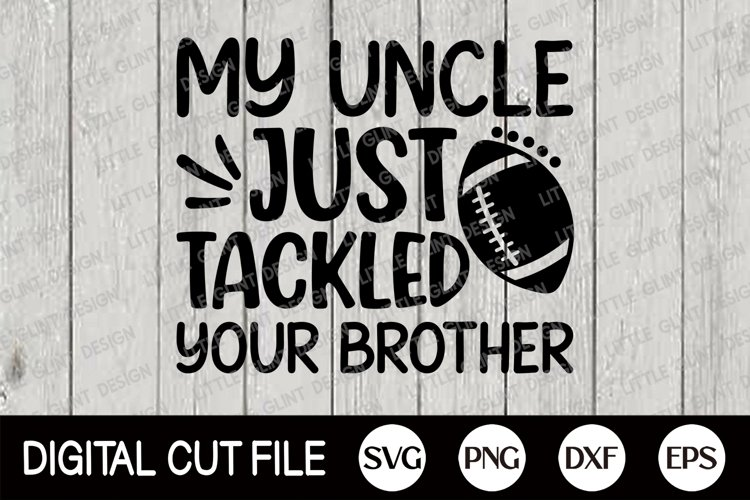 Football SVG, Football Player Uncle, Football Fan Shirt, DXF example image 1