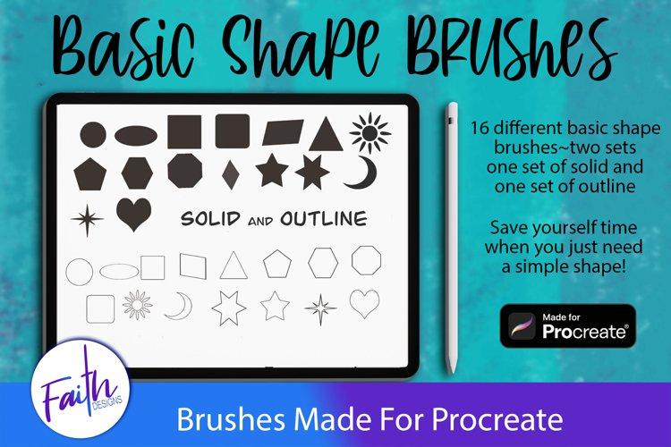 Basic Shapes Brushes For Procreate example image 1
