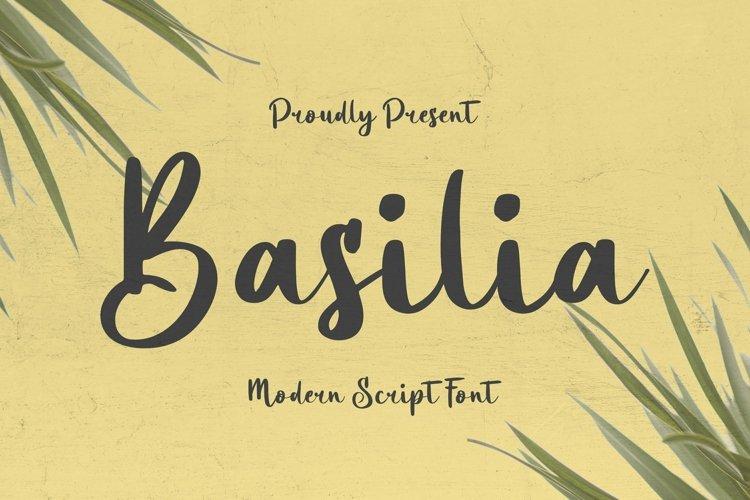 Web Font Basilia Font example image 1