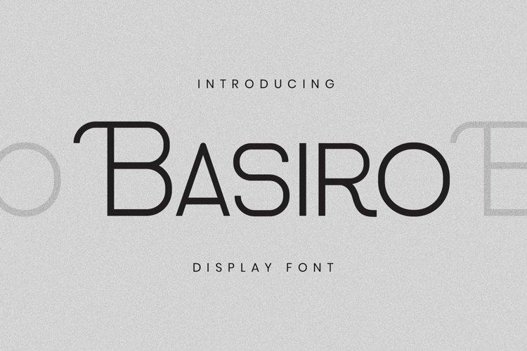 Web Font Basiro Font example image 1