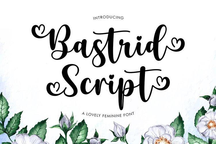 Bastrid Script example image 1