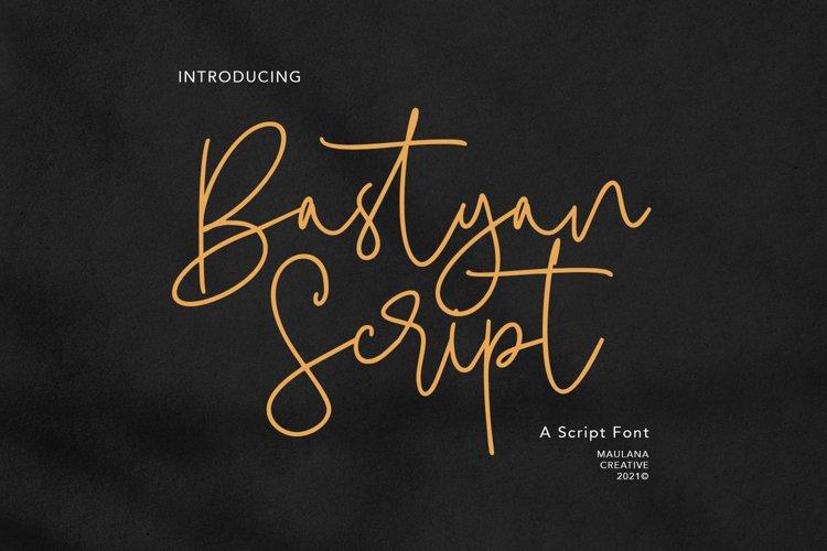 Bastyan Script Font example image 1
