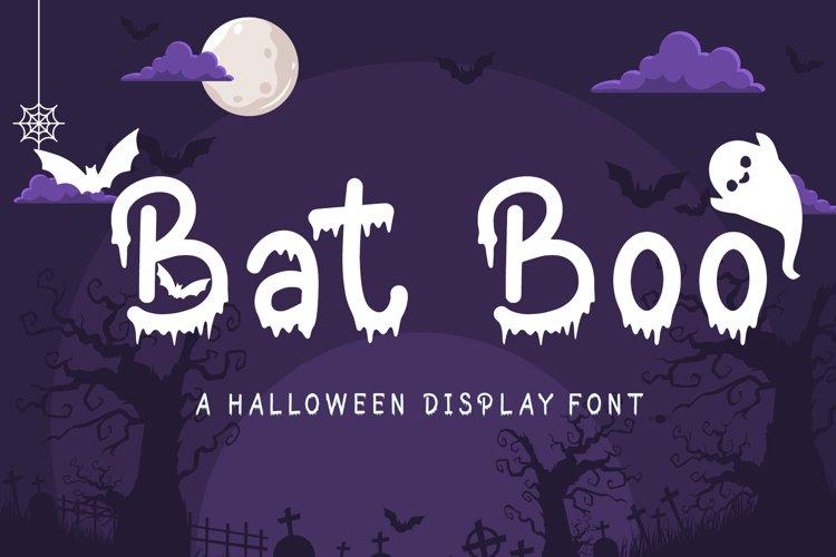 Bat Boo - A Halloween Display Font example image 1