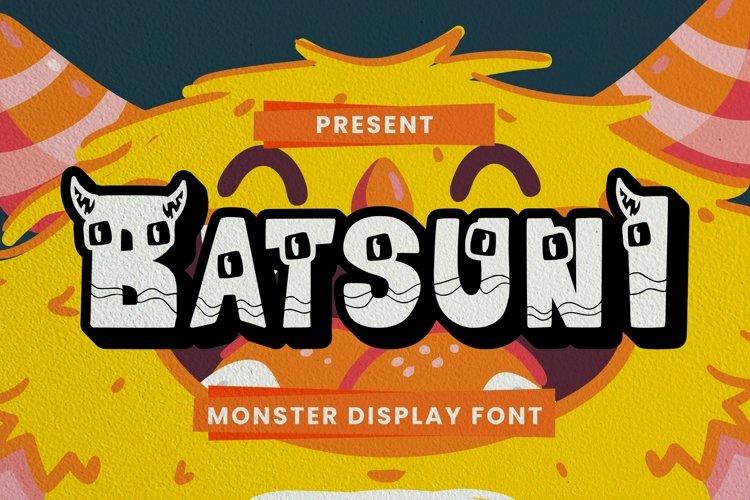 Web Font Batsuni Font example image 1