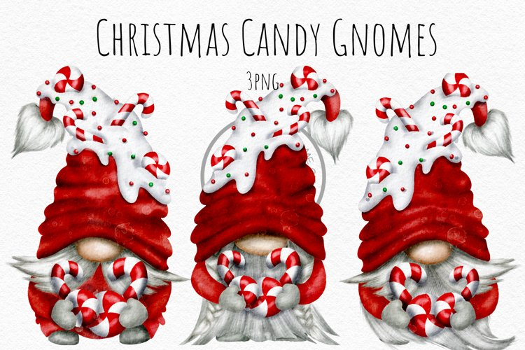 Christmas Candy Gnomes PNG example image 1