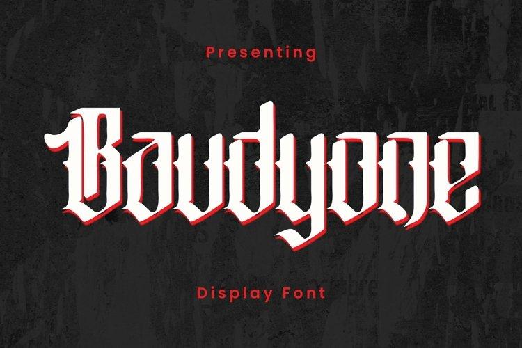 Baudyone - Tattoo Font example image 1