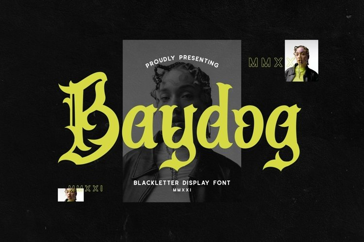 Web Font Baydog example image 1