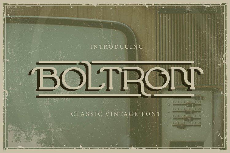 Boltron | Classic Vintage Font