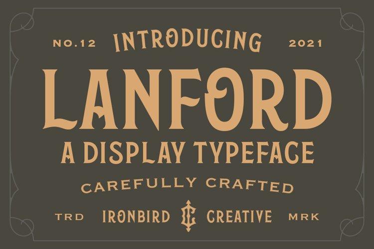Lanford - Display Typeface example image 1
