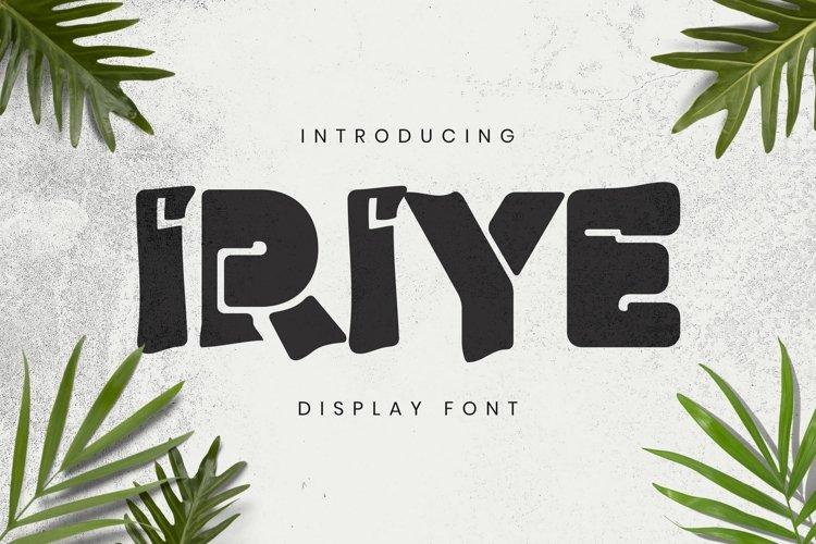 Web Font Iriye Font example image 1