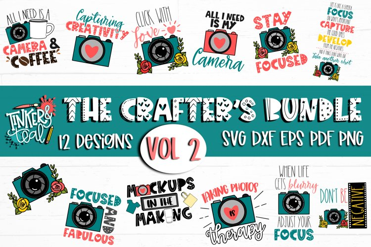 Crafters SVG Bundle Vol 2 / Camera SVG / Photography SVG