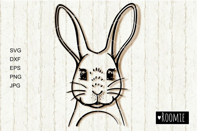 Rabbit, Bunny face svg, Happy Easter bunny Cut files Cricut example image 1