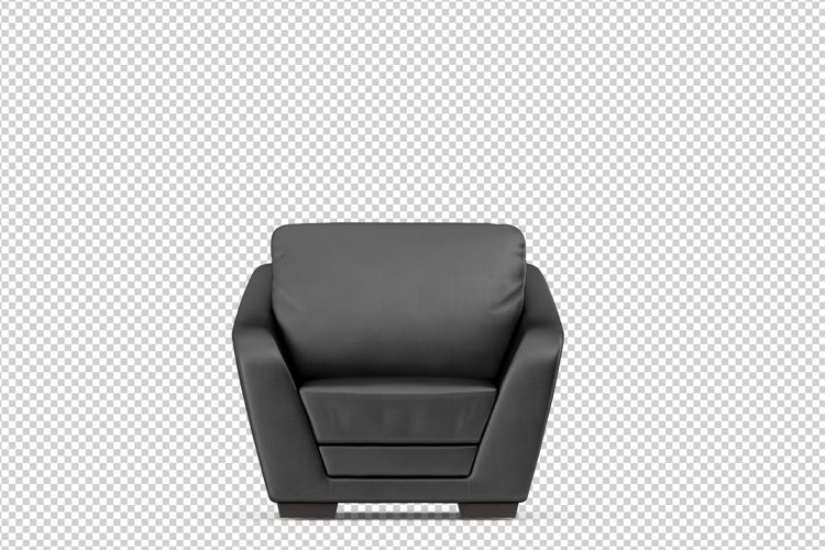 Isometric Arm Chair 3D isolated render
