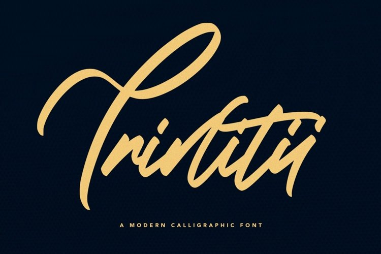 Web Font Trinitii - Modern Calligraphic Font example image 1