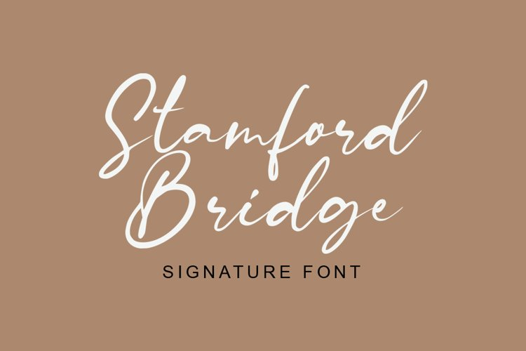 Stamford Bridge Signature Font example image 1
