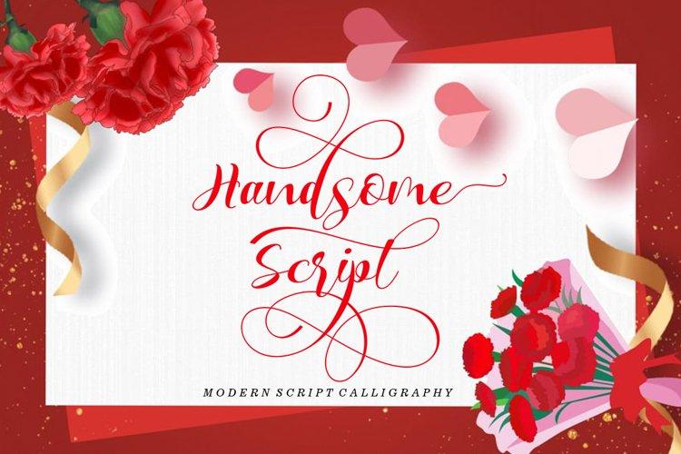 Handsome Script example image 1
