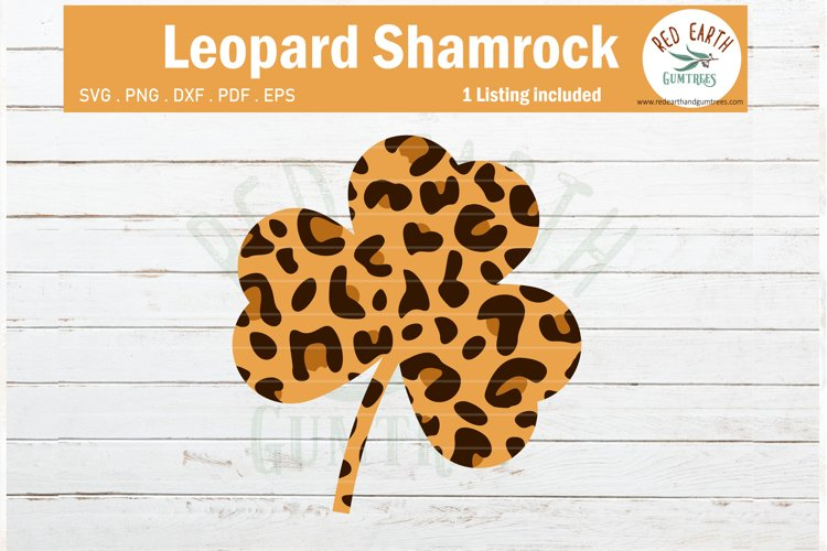 St Patricks day leopard print Shamrock svg,Cheetah shamrock