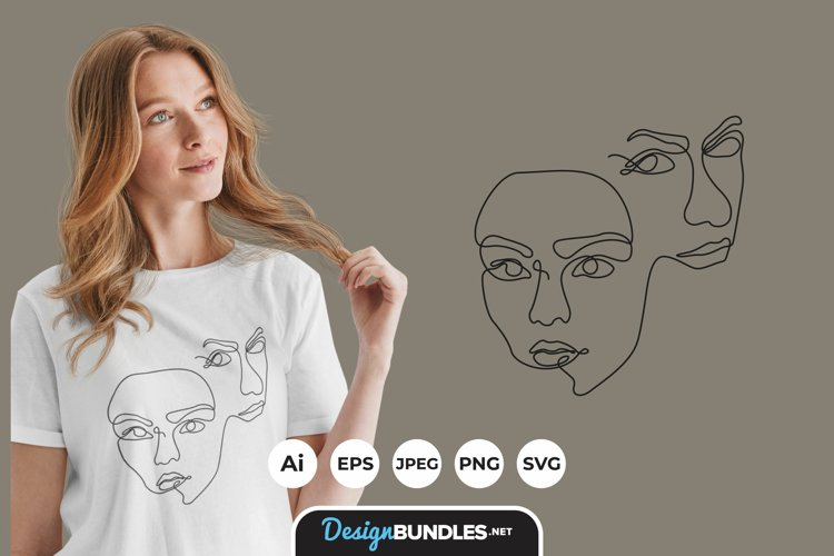 Women Abstract Illustrations for T-Shirt Design