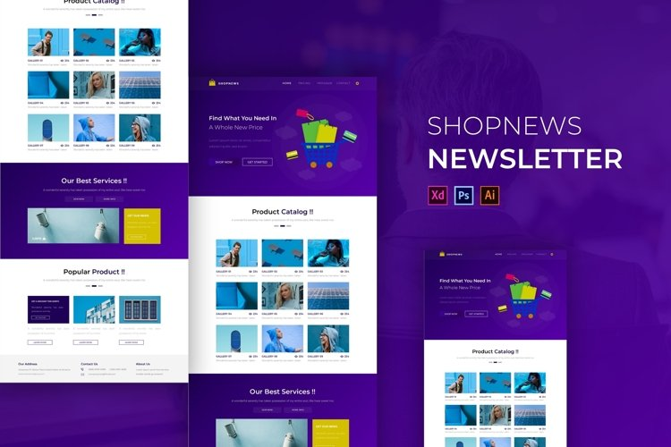 Shopnews | Email Newsletter Template example image 1