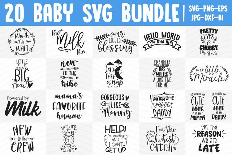 Baby SVG Bundle, Baby Boy SVG, Baby Girl SVG, Newborn SVG example image 1