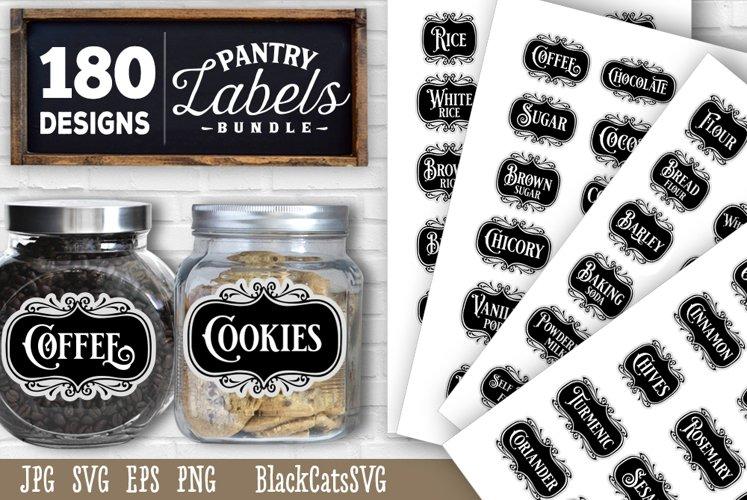 Download Pantry Labels Svg Bundle Complete Collection Kitchen Svg 929667 Cut Files Design Bundles
