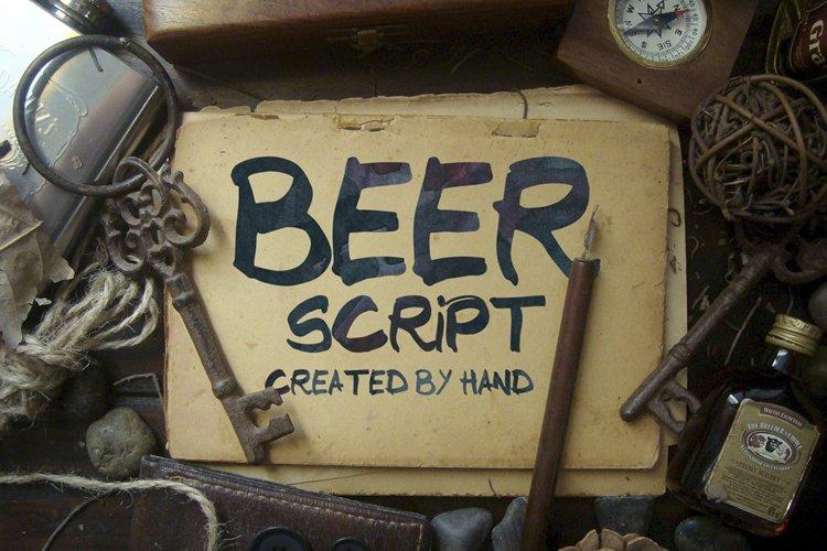 Beer Script Typeface example image 1