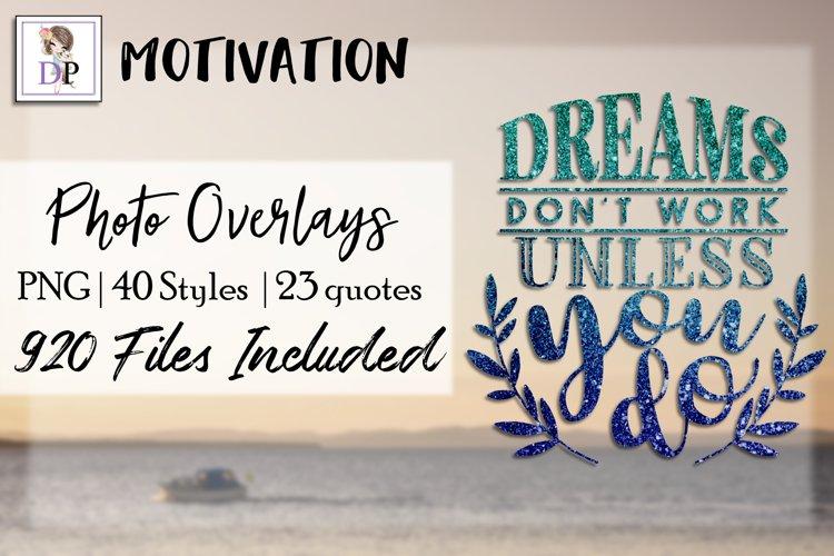Motivation Bundle Photo Overlays Art Social Media Photobook example image 1