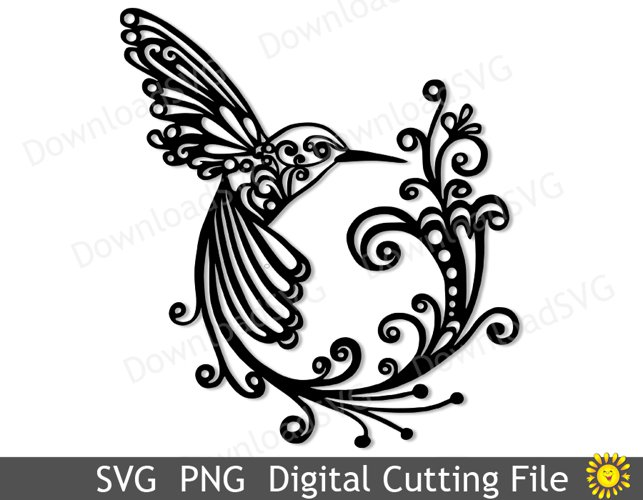 SVG and PNG cutting files, Hummingbird, Clipart, Vector