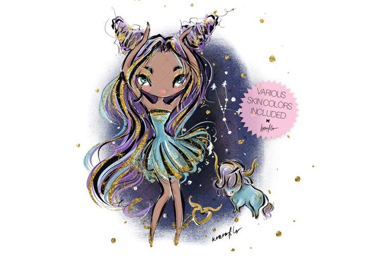 Zodiac Taurus Clipart