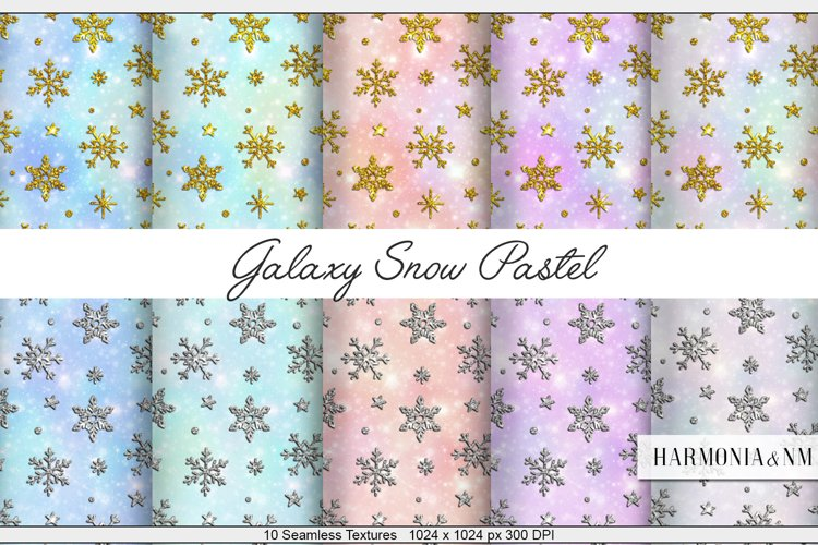 Galaxy Snow Pastel 10 Textures Harmonia NM example image 1