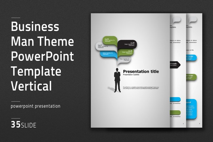 Business Man Theme Presentation Vertical example image 1